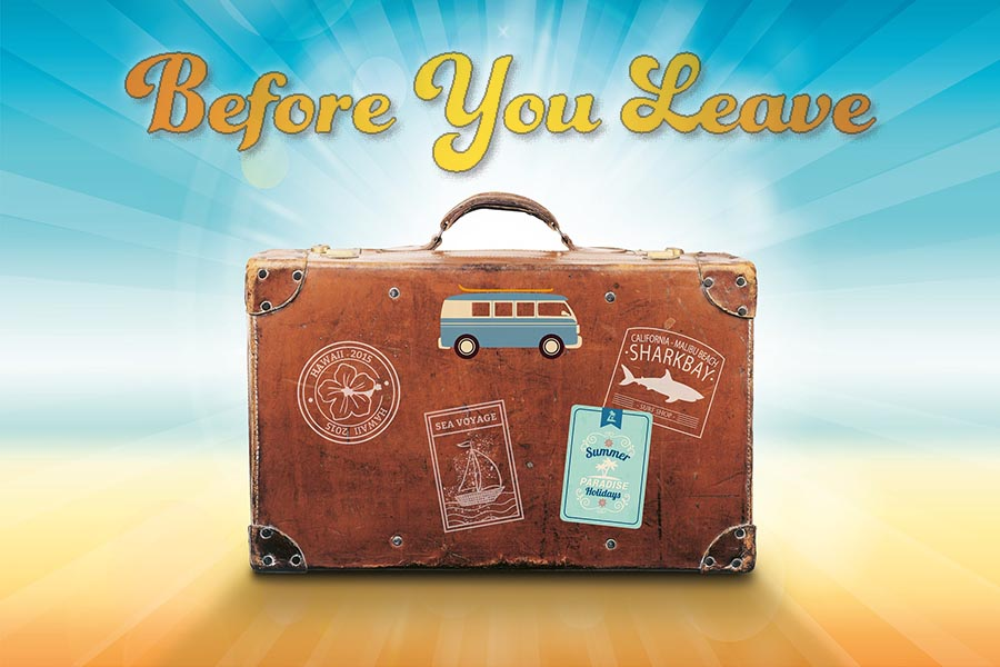 Before You Leave Suitcase
