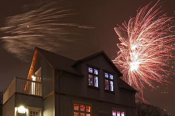 House with Fireworks